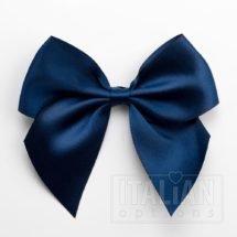 Navy - 10cm Satin Ribbon Bow - (Self Adhesive) - 6 Pack