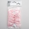 Pale Pink - 10cm Satin Ribbon Bow - (Self Adhesive) - 6 Pack
