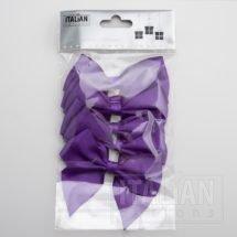 Purple - 10cm Satin Ribbon Bow - (Self Adhesive) - 6 Pack
