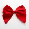 Red - 10cm Satin Ribbon Bow - (Self Adhesive) - 6 Pack