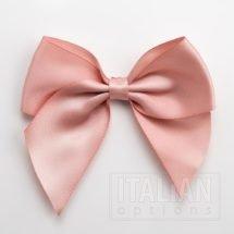 Rose Gold - 10cm Satin Ribbon Bow - (Self Adhesive) - 6 Pack