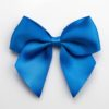 Royal Blue - 10cm Satin Ribbon Bow - (Self Adhesive) - 6 Pack