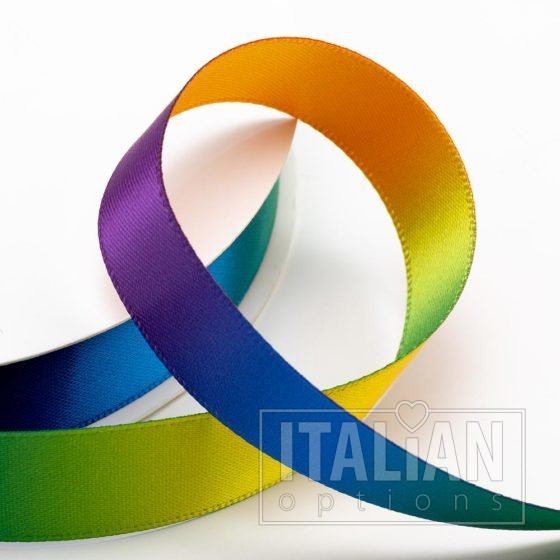 Rainbow Satin Ribbon - 6mm, 10mm, 16mm, 25mm & 38mm