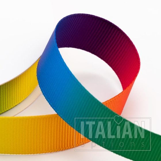 Rainbow Grosgrain Ribbon – 6mm, 10mm, 16mm, 25mm & 38mm