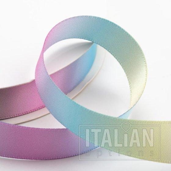 Pastel Rainbow Satin Ribbon - 6mm, 10mm, 16mm, 25mm & 38mm