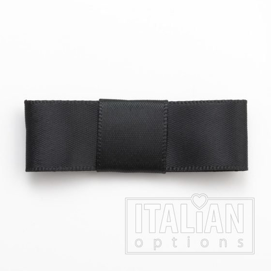 5cm Dior Satin Bows (Self Adhesive) - 12 pcs - Black