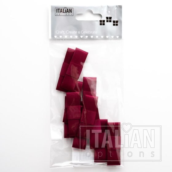 5cm Dior Satin Bows (Self Adhesive) - 12 pcs - Burgundy