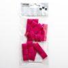 5cm Dior Satin Bows (Self Adhesive) - 12 pcs - Cerise