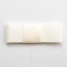 5cm Dior Satin Bows (Self Adhesive) - 12 pcs - Ivory