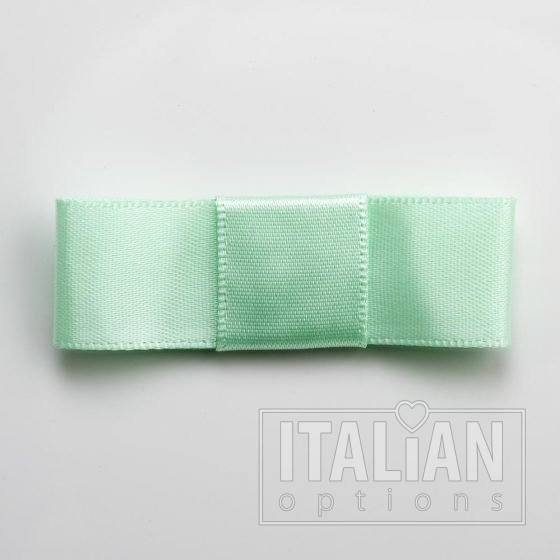 5cm Dior Satin Bows (Self Adhesive) - 12 pcs - Mint