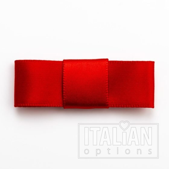 5cm Dior Satin Bows (Self Adhesive) - 12 pcs - Red