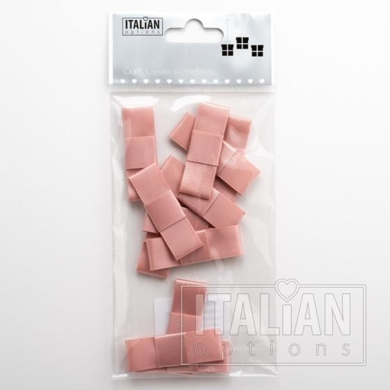 5cm Dior Satin Bows (Self Adhesive) - 12 pcs - Rose Gold