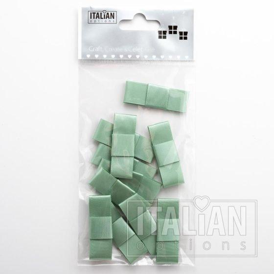 5cm Dior Satin Bows (Self Adhesive) - 12 pcs - Sage Green