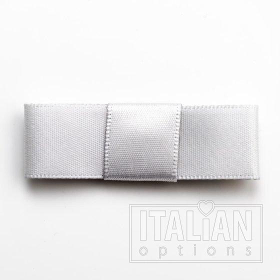 5cm Dior Satin Bows (Self Adhesive) - 12 pcs - Silver