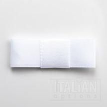 5cm Dior Satin Bows (Self Adhesive) - 12 pcs - White