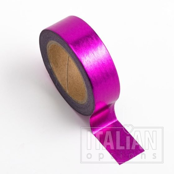 Washi Tape Adhesive Foil Tape 15mm x 10M - Cerise