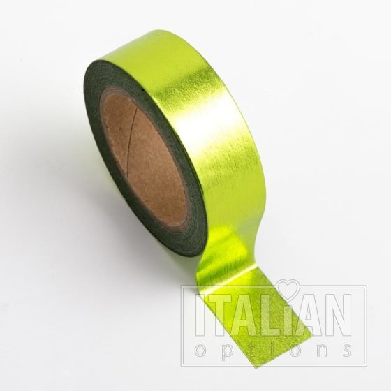 Washi Tape Adhesive Foil Tape 15mm x 10M - Lime Green