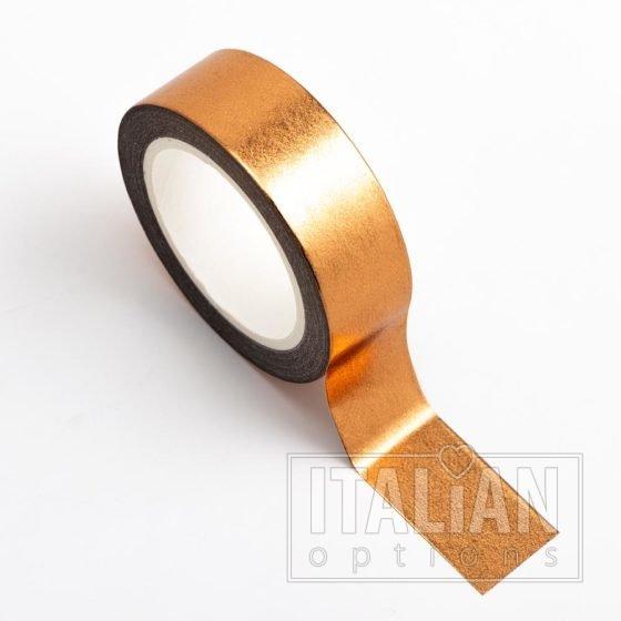Adhesive Washi Tape - Foil - Copper 15mm x 10m