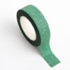 Adhesive Washi Tape - Glitter - Green 15mm x 10m