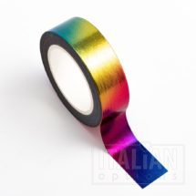 Adhesive Washi Tape - Foil - Rainbow 15mm x 10m