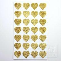 Glitter Hearts Gold