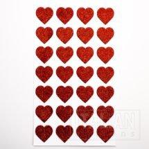 Glitter Hearts Red