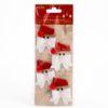 self-adhesive Santa's Face Bow design