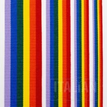 Rainbow Stripe Grosgrain Ribbon - 10mm, 16mm, 25mm, & 38mm
