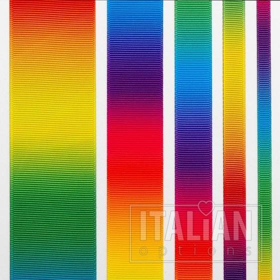 Rainbow Grosgrain Ribbon - 6mm, 10mm, 16mm, 25mm & 38mm