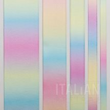 Pastel Rainbow Satin Ribbon - 6mm, 10mm, 16mm, 25mm & 38mm