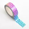 Adhesive Washi Tape - Foil - Chevron Rainbow 15mm x 10m