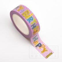 Adhesive Washi Tape - Foil - Happy Birthday Pink 15mm x 10m