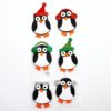 self-adhesive Glitter Winter Penguins