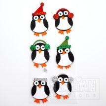 self-adhesive Glitter Winter Penguins