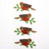 self-adhesive Glitter Robins