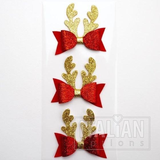 Glitter Reindeer Antler Bows