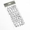 15mm - Script Self Adhesive Letters - Black Glitter