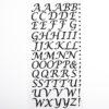 15mm - Script Self Adhesive Letters - Black Glitter