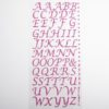 15mm - Script Self Adhesive Letters - Pink Glitter