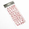 15mm - Script Self Adhesive Letters - Red Glitter