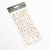 15mm - Script Self Adhesive Letters - Rose Gold Glitter