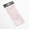 15mm - Script Self Adhesive Letters - Rose Pink Glitter