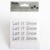 9.5cm'Let it Snow' Diamante on Sheet - (4 pcs)