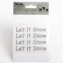 9.5cm 'Let it Snow' Diamante on Sheet - (4 pcs)