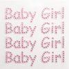 Diamante'Baby Girl' 1.2x6.5cm (4 per sheet) PINK
