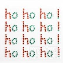 'ho ho ho' 1.2x6.5cm (4 per sheet) RED/GREEN