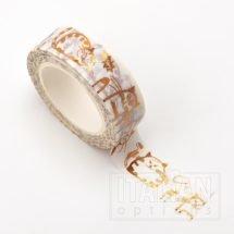 Adhesive Washi Tape - Foil - Fat Cats - Copper 15mm x 10m