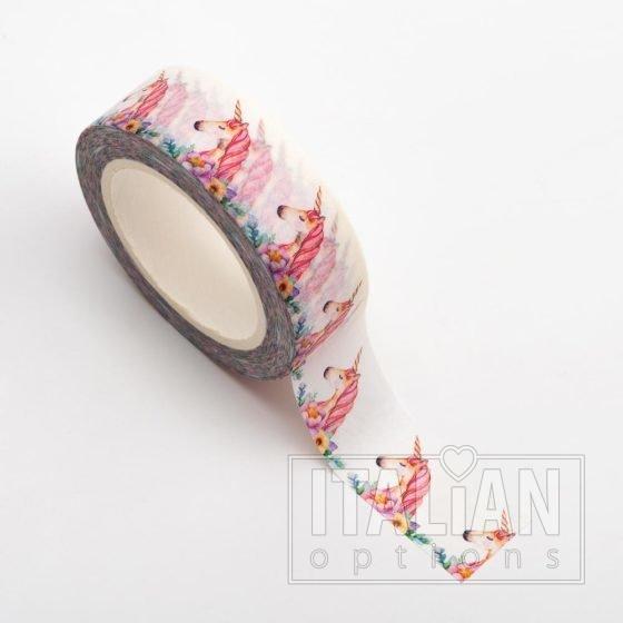Adhesive Washi Tape - Unicorns 15mm x 10m