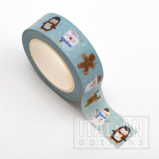 Adhesive Washi Tape - Cute Christmas 15mm x 10m