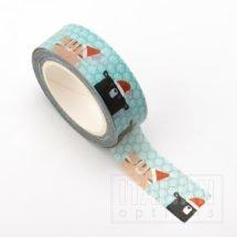 Adhesive Washi Tape - Christmas Animals 15mm x 10m